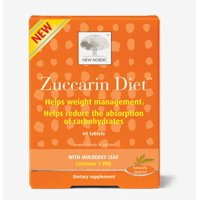 New Nordic Zuccarin Diet Weight Loss Supplement and Carb Blocker, 60 Tablets
