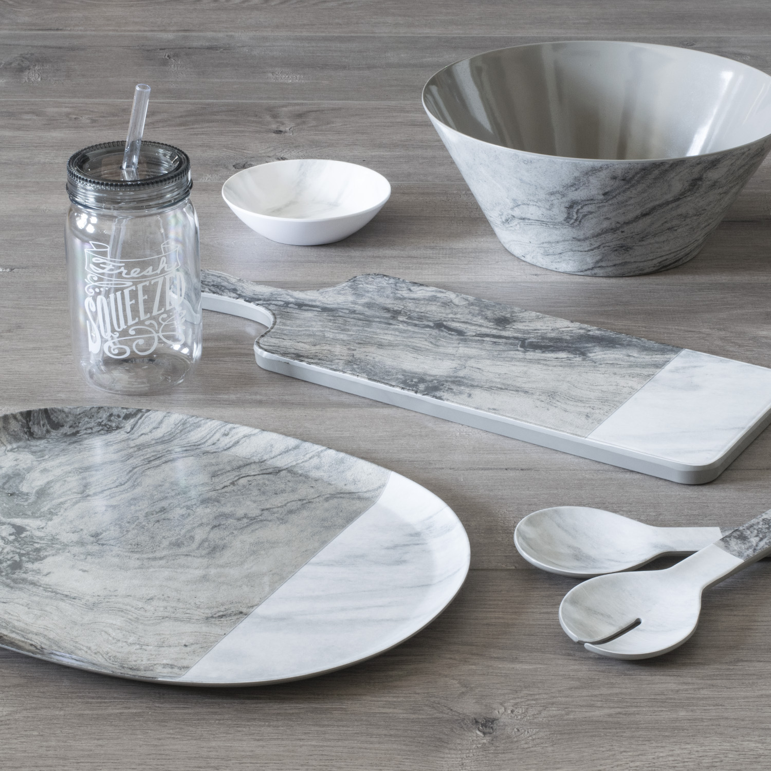 Mainstays Gallery Pewter Serveware Set