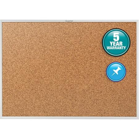 Quartet Classic Cork Bulletin Board, 4' x 3', Silver Aluminum Frame - Bulliten Boards