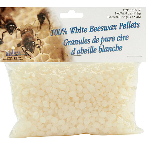 Beeswax Pellets 4 Ounces, 100% White
