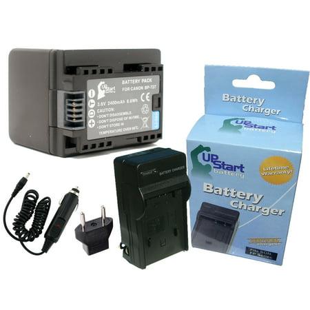 BP-727 Decoded Battery, Charger, Car Plug and EU Adapter for Canon HF R300, HF R400, HF M500, HF M50, HF M52, HF R40, HF R30, HF R42, HF R32 Camcorder