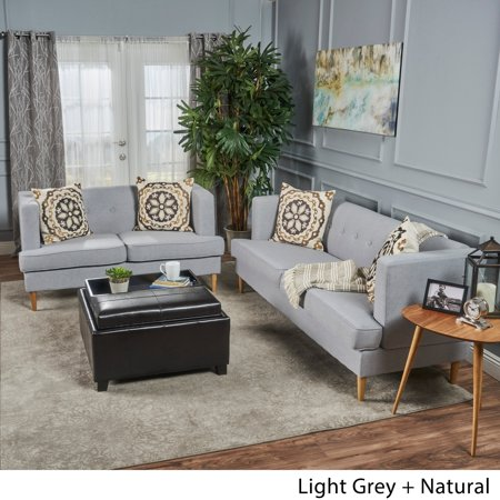 Christopher Knight Home Milton Mid-century Modern 2-piece Fabric Sofa Set by