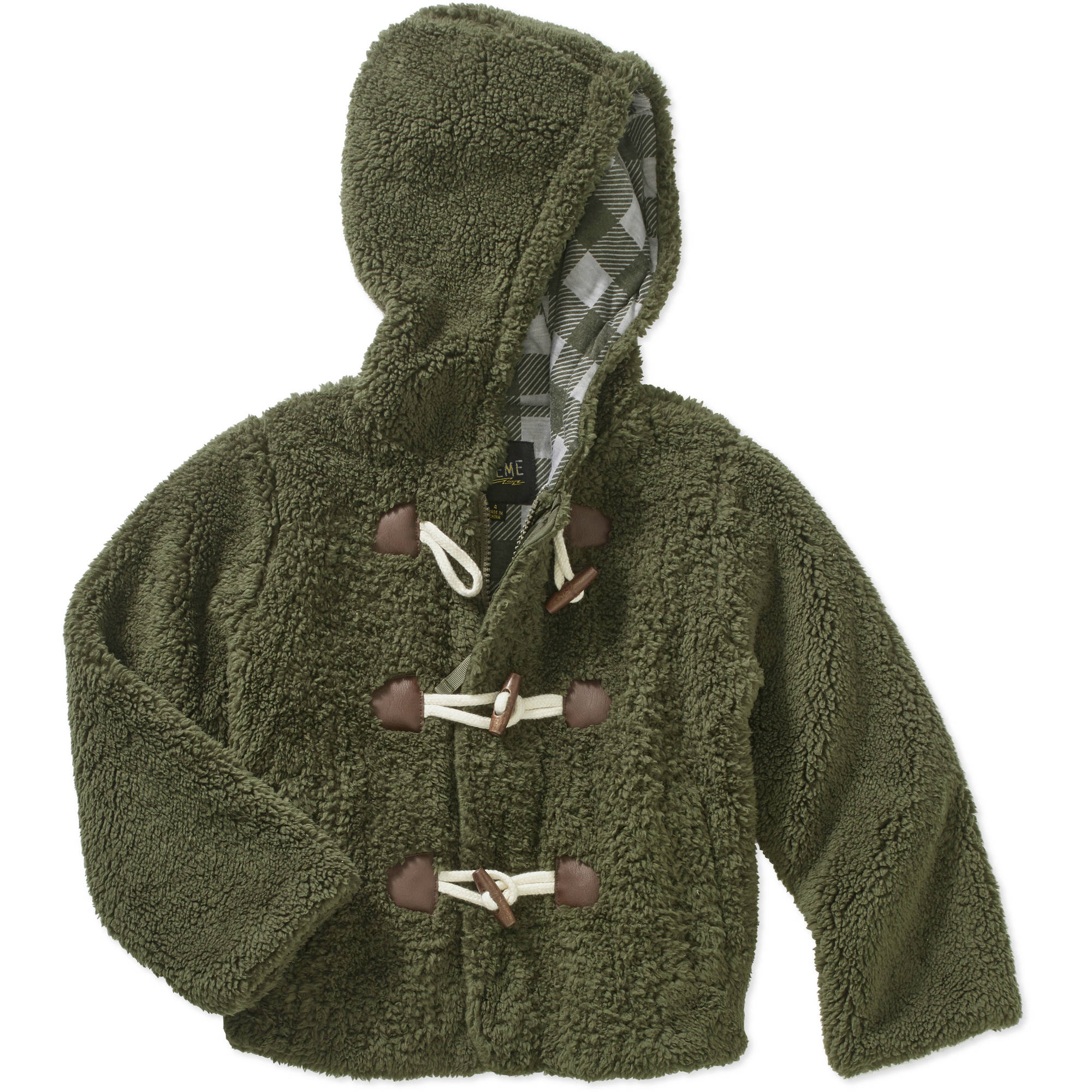 iExtreme Little Boys' Sherpa Duffle Jacket