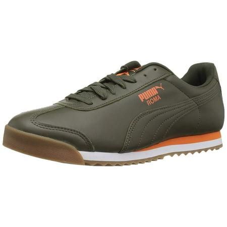 Puma 366408-06: Mens Roma Classic Forest Night/Firecracker Sneakers