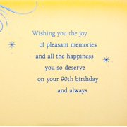 Hallmark 90th Birthday Greeting Card Blue Circle Image 3 Of 6