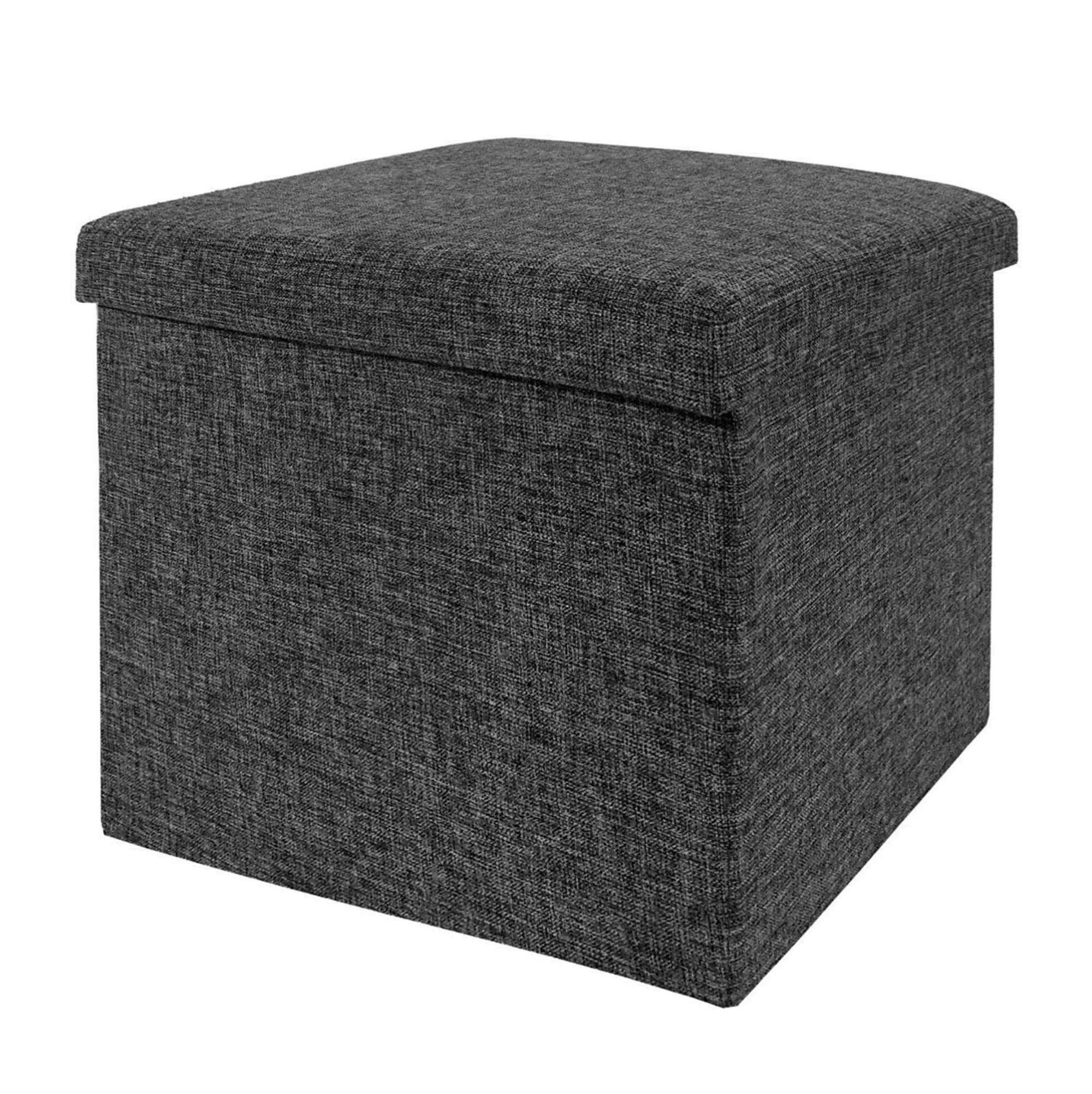 Foldable Storage Ottoman, Charcoal Gray by Seville Classics