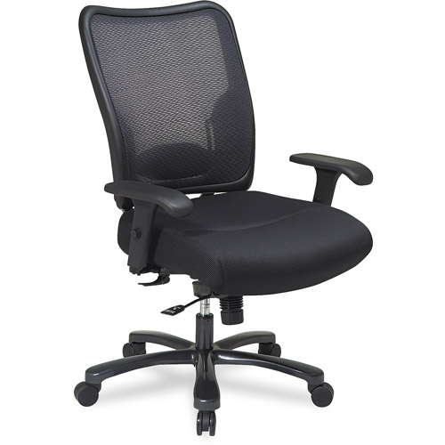 Office Star Space Seating Big & Tall Double AirGrid Mesh Office Chair, Black