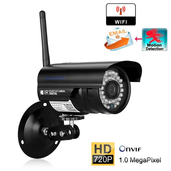 WiFi Camera Outdoor, Security Surveillance CCTV, 720P HD Night Vision  Cameras, Waterproof Security Camera, IR LED Motion Detection IP Cameras for