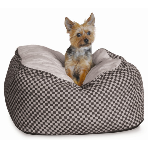 "K&H Pet Products Deluxe Cuddle Cube Pet Bed, Medium, Black, 26"" x 26"" x 12"""