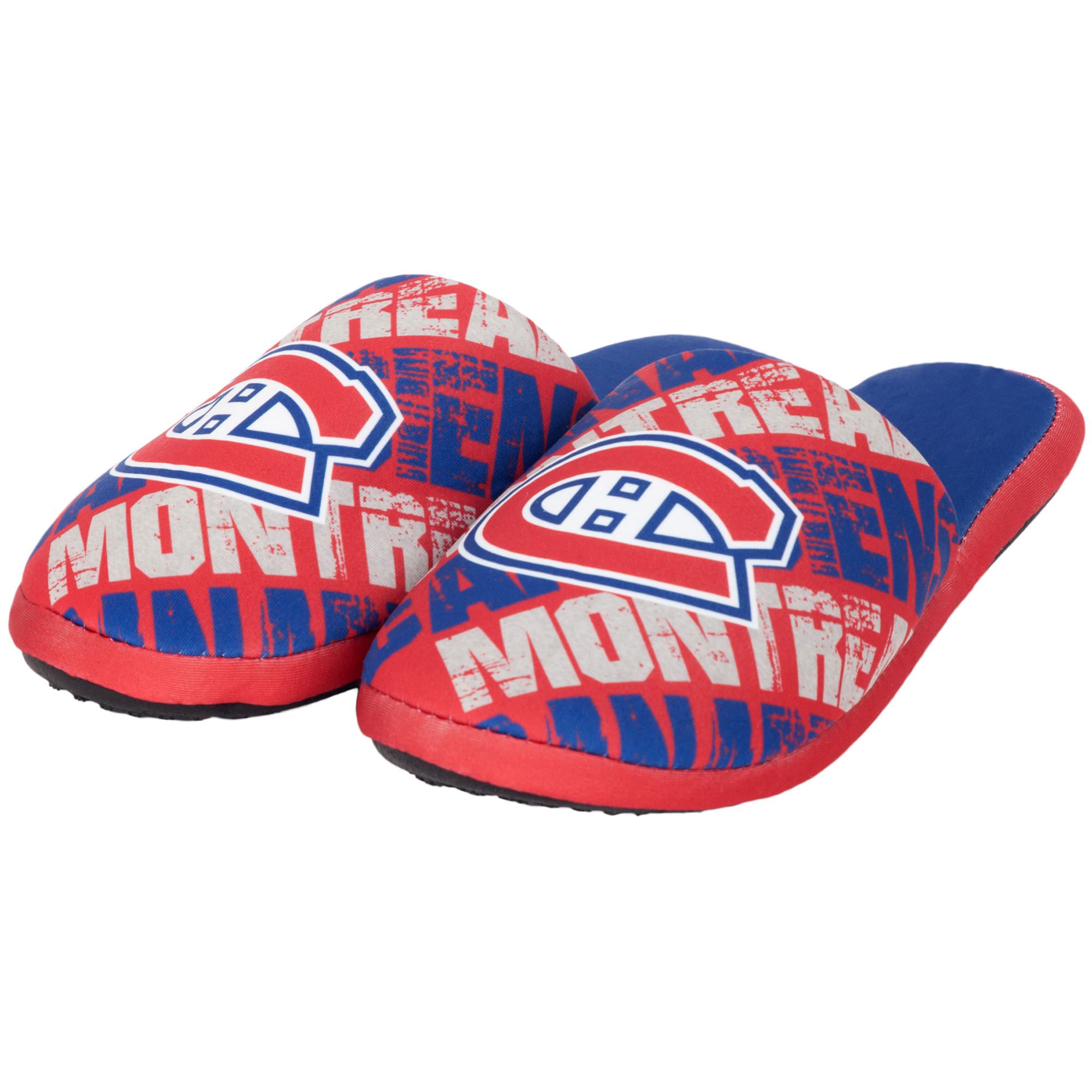 Montreal Canadiens Youth Wordmark Printed Slippers - Red