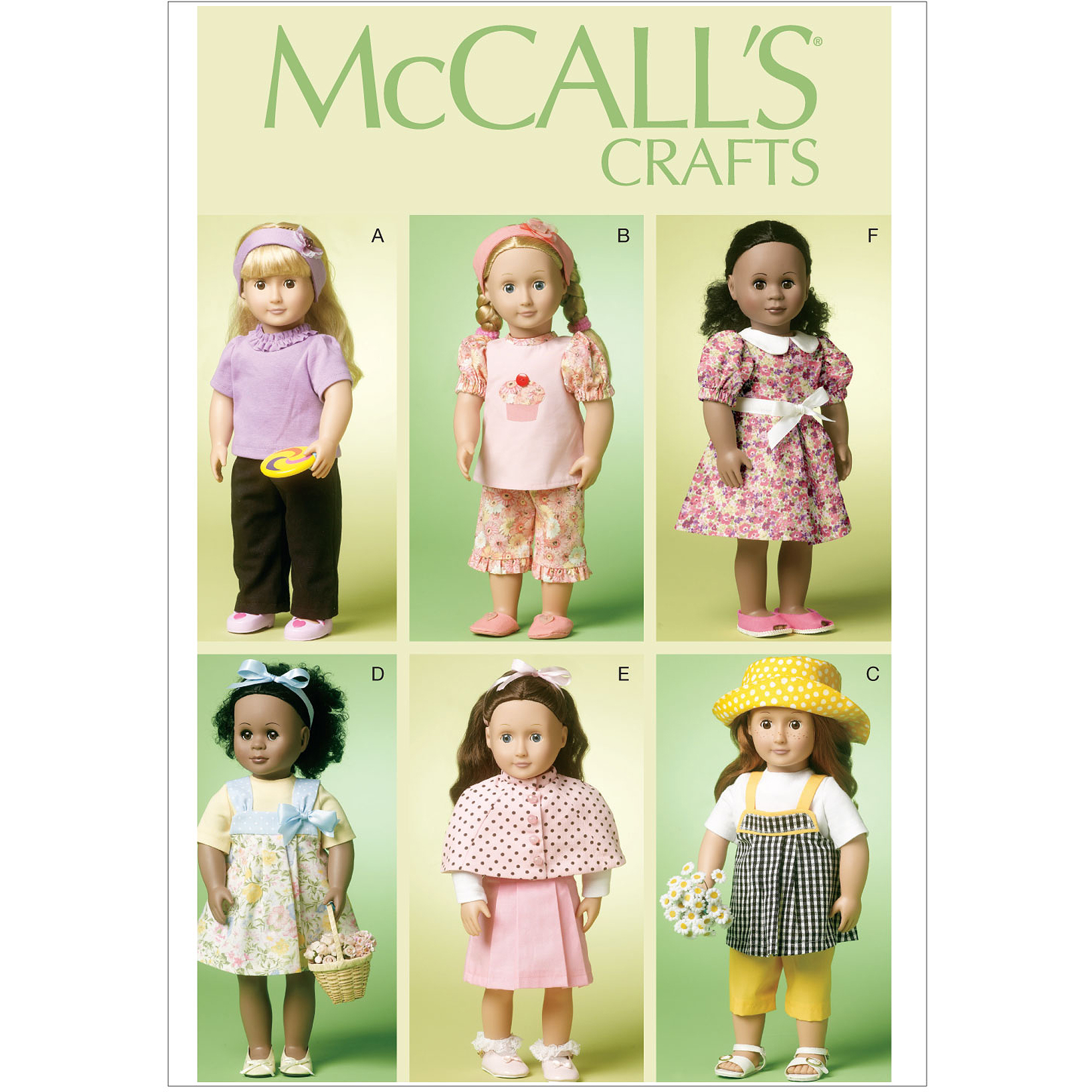 "McCall's Pattern 18"" Doll Clothes, One Size"