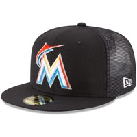 Miami Marlins New Era On-Field Replica Mesh Back 59FIFTY Fitted Hat - Black