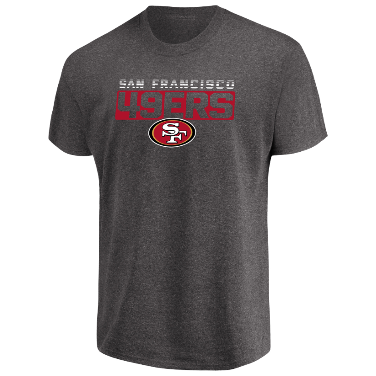 Men's Majestic Heathered Charcoal San Francisco 49ers Come Into Play T-Shirt