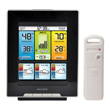 Acurite 02007 Color Weather Station With Morning  Noon   Night Forecast