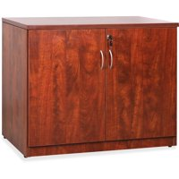 Lorell, LLR69611, Essentials Series Cherry 2-door Storage Cabinet, 1 Each, Cherry