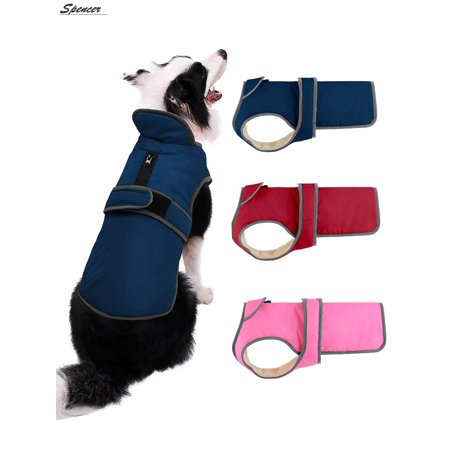 """Spencer Reflective Waterproof Dog Coat Cold Weather Warm Dog Jacket Pets Apparel for Small Medium Large Dogs """"M-2XL"""""""