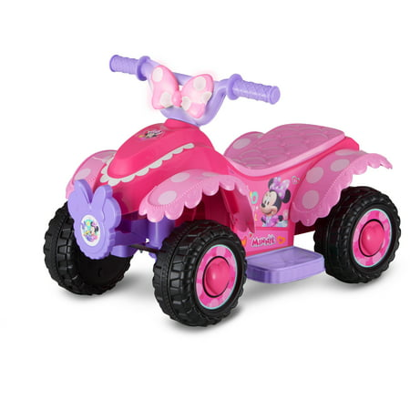 Disney Minnie Mouse Happy Helpers 6V Battery Powered Quad - Ride On Toys For 4 Year Olds