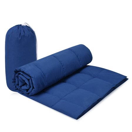 Famome 90% Candian Goose Down Throw Blanket Indoor/Outdoor, 50