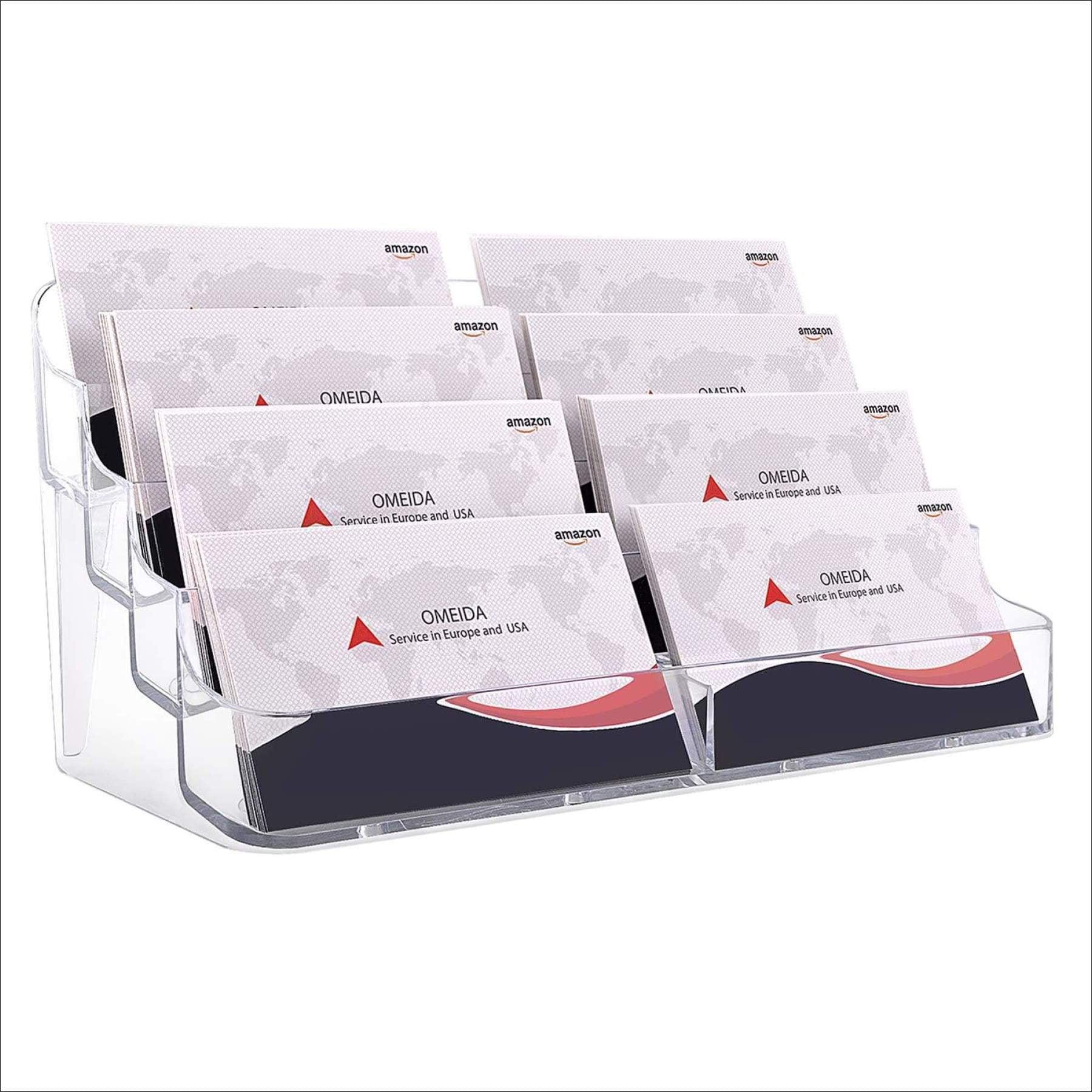 MaxGear Acrylic Business Card Holder for Desk Business Card Holders,  Business Card Stand Business Card Display Holder Clear Business Card Holder  ...