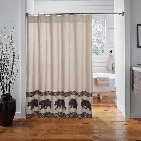 Loon Peak Dubay Bear Single Shower Curtain