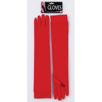 GLOVES-LONG NYLON RED - Red Gloves