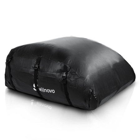 Car Roof Bag Top Carrier Cargo Storage Rooftop Luggage Waterproof Soft Box Luggage Outdoor Water Resistant for Car with Racks,Travel Touring,Car s,V ans, Suvs  HFON