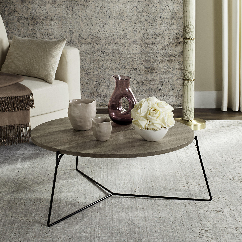 Safavieh Mae Round Retro Mid Century Wood Coffee Table, Multiple Colors