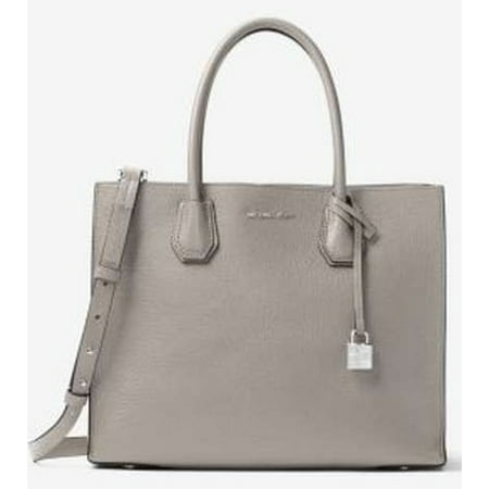 Pearl Gray Leather - Mercer Large Leather - Tote - Pearl Grey - 30F6SM9T3L-081