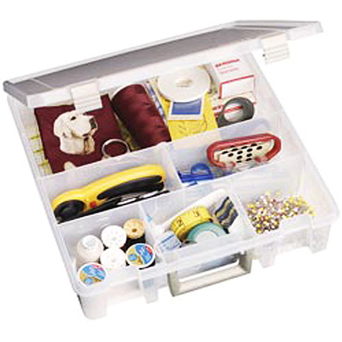 "ArtBin Super Satchel 6-Compartment Translucent Box, 15"" x 14"" x 3.5"""