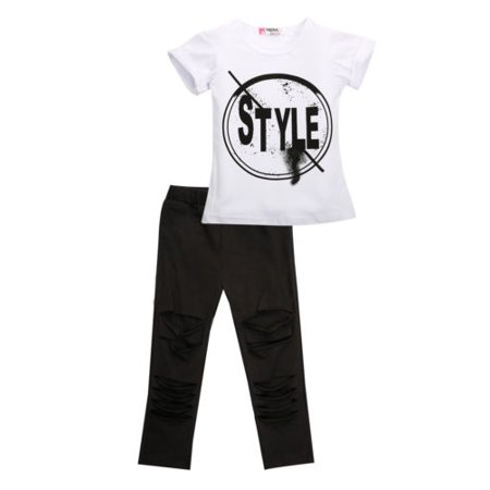 Hirigin 2Pcs Toddler Kids Girls Clothes Style Summer T-shirt Tops Pants Leggings Outfits Set](Girls Style Clothing)