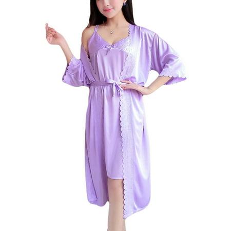 c78ed1123266 Vecceli Italy - Vecceli Italy Women s Silky-Feel Sleep Wear with ...