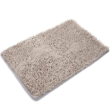 Wendana Chenille Soft Non-slip Microfiber Shag Bathroom Doormat Rugs,Fast Water Absorbent Bath Mats For Bathroom Floor,Toilet/Living Room Mat 20 x 32-Inches Bathroom Carpet Shower Rug