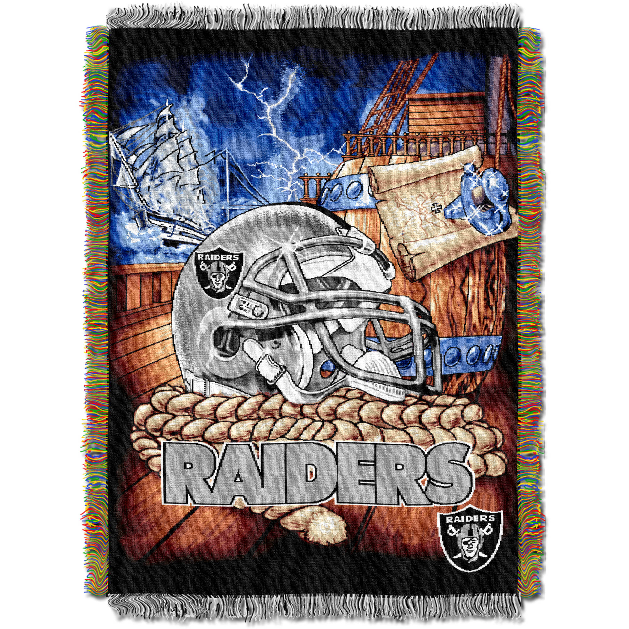 "NFL 48"" x 60"" Tapestry Throw Home Field Advantage Series- Raiders"