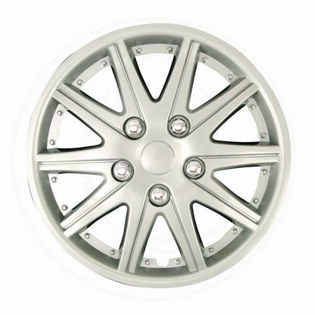 Fit Acura Alfa Romeo Audi Cadillac Daewoo Eagle GMC Isuzu Jaguar Wheels Rim Cover 4pcs Hub Cap 5 Chrome Lug Trim Skin  C Chrome Cadillac Trim Cover