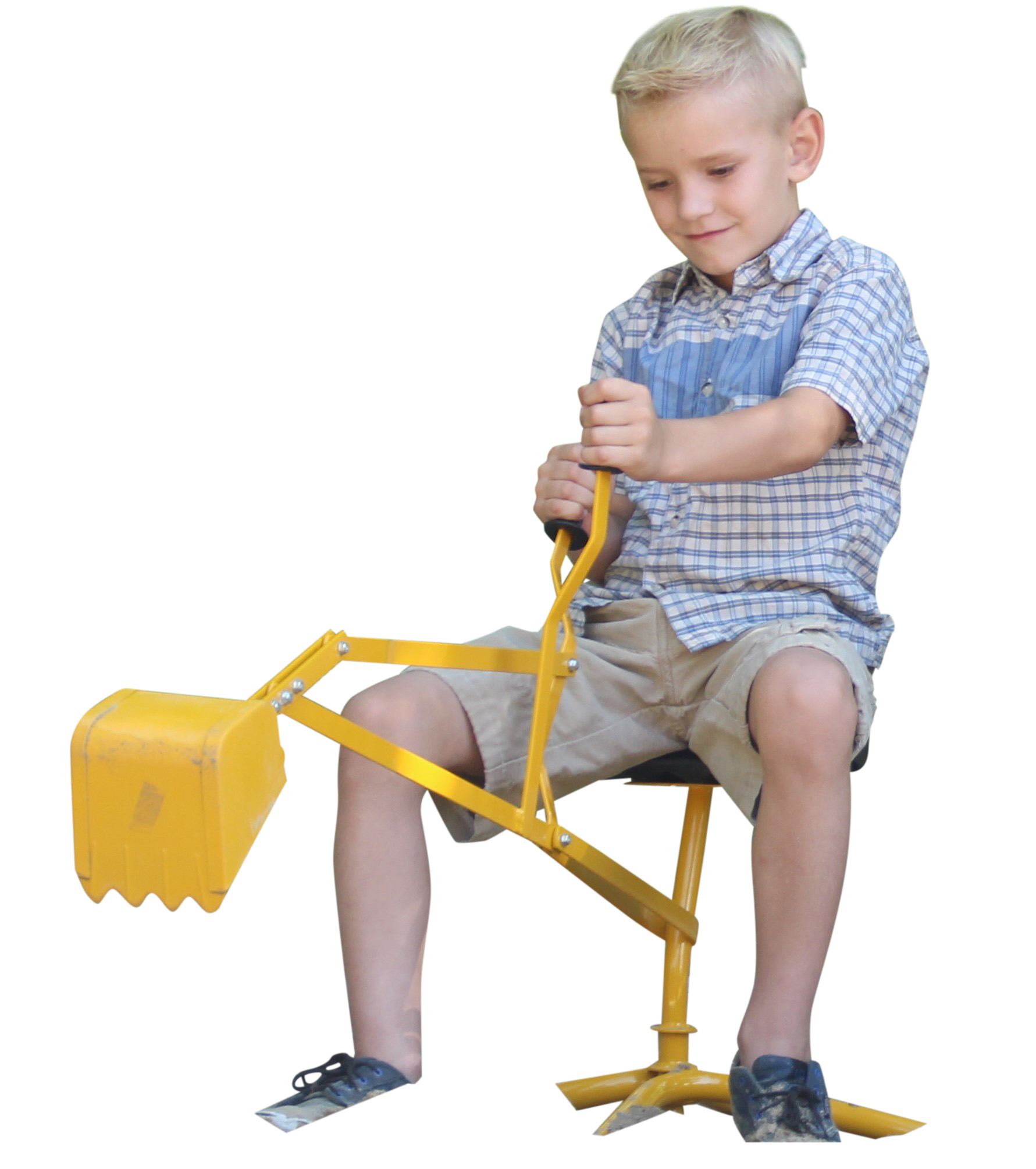 Kid Digger a Toy ride-on Backhoe for Sandbox and Beach by Childrensneeds.com (yellow) by