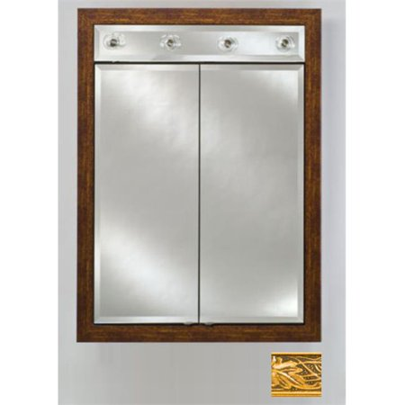 Afina Corporation DD-LC3140RARSGD 31x40 Contemporary Integral Lighted Double Door - Aristocrat Gold - image 1 of 1