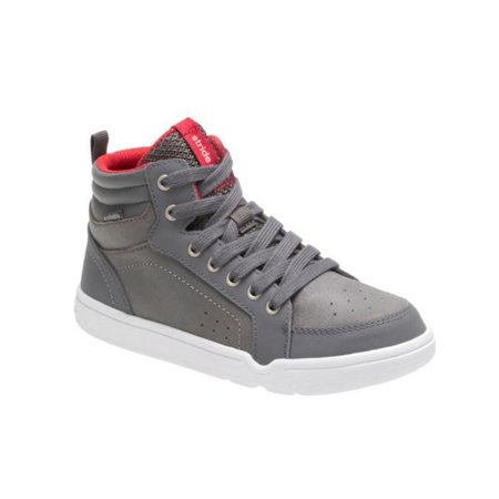 Mid Grey Kids Shoes (Stride Rite Kids' Made 2 Play Kaleb Mid Lace Sneaker Grey 1.5)