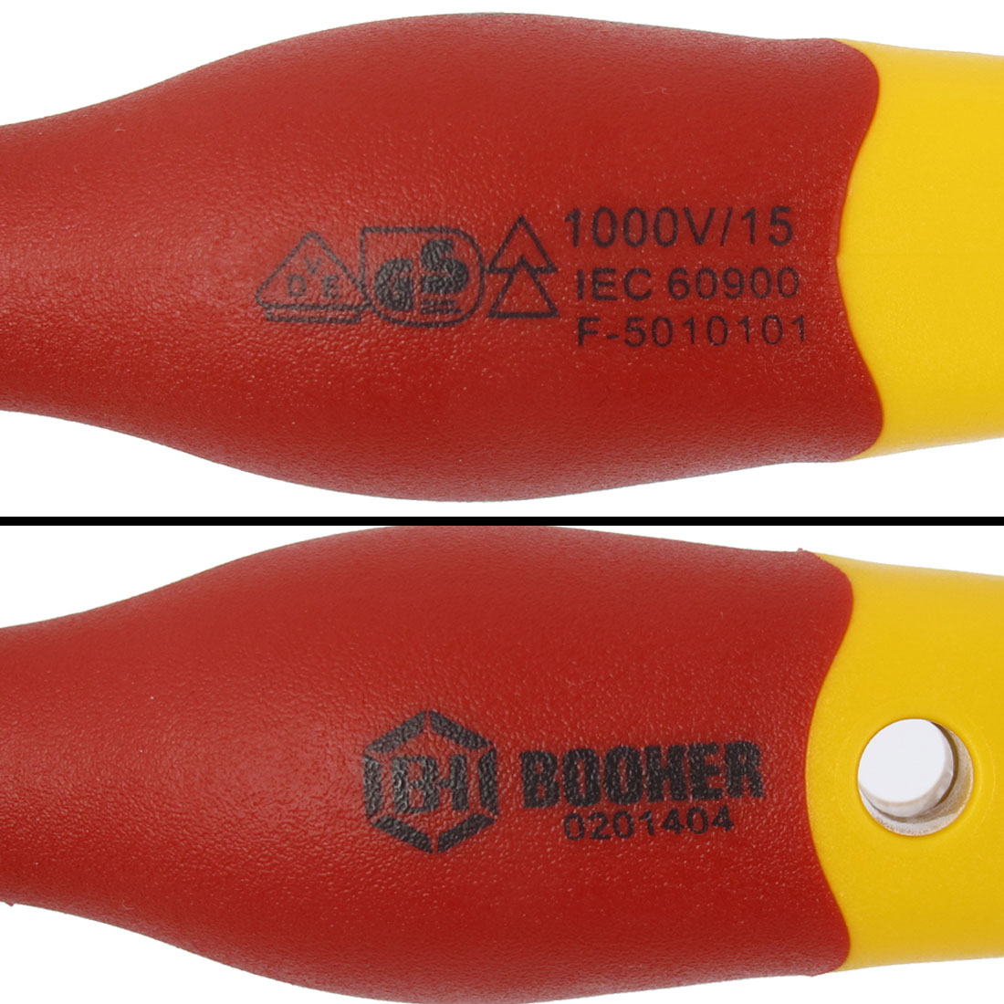 BOOHER Authorized 1000V 4mm Tip Width VDE Insulated Slotted Screwdriver - image 4 of 7