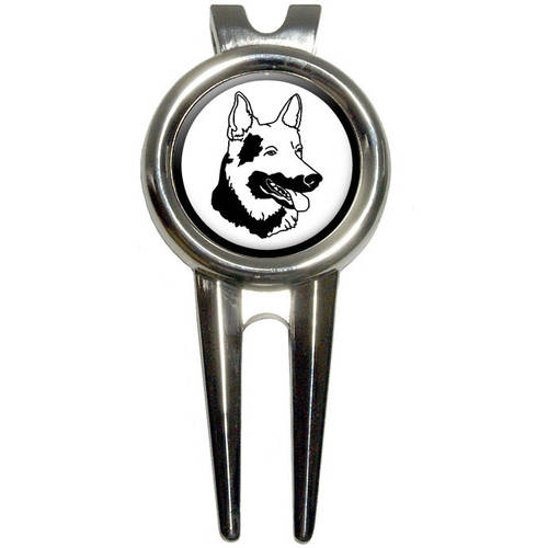 German Shepherd/Dog Golf Divot Repair Tool and Ball Marker
