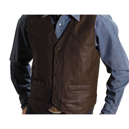 Roper Western Vest Mens Leather Chocolate Brown 02-075-0510-0502 BR