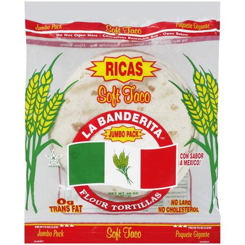 La Banderita Jumbo Pack Soft Taco Flour Tortillas, 48 oz