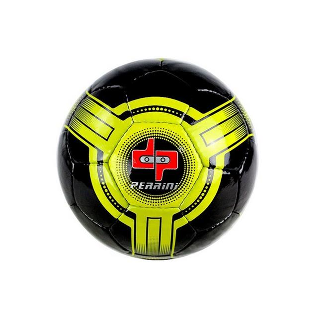 8301 Perrini Futsal - Official Size 4 Soccer Ball Black & Yellow