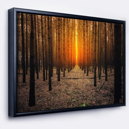 DESIGN ART Designart 'Halloween Themed Spooky Dark Forest' Oversized Forest Framed Canvas Art - Halloween Themed Art