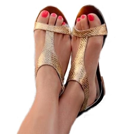 Low Heels Flats Shoes - Women Low Heel Flat Sandals Slingback Toe Post Summer Beach Shoes Size