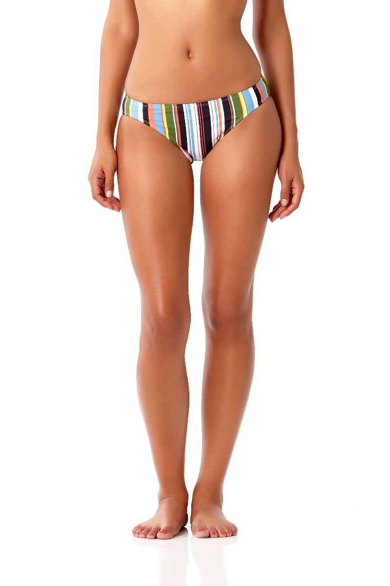 Studio Anne Cole Women's Comic Stripe Bikini Swim Bottom
