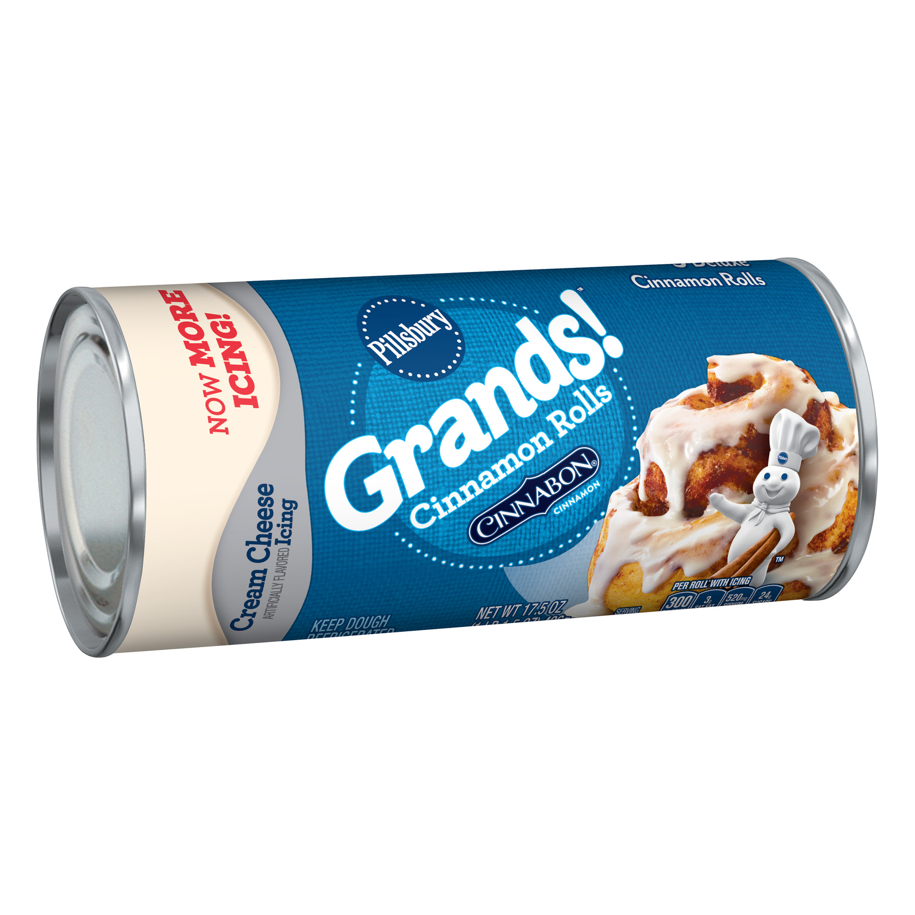 Pillsbury Grands! Cinnamon Rolls With Cream Cheese Icing 5 Ct 17.5 oz