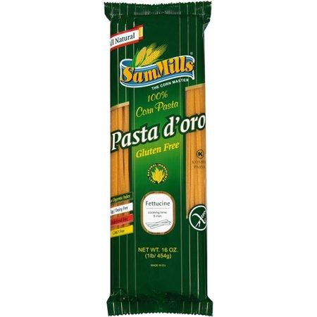 Sam Mills Pasta d'oro Gluten Free 100% Corn Fettucine, 16 ...