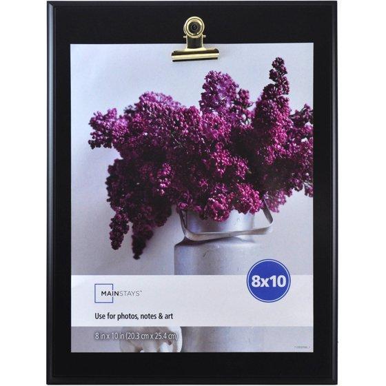 mainstays 8x10 clip picture frame black. Black Bedroom Furniture Sets. Home Design Ideas