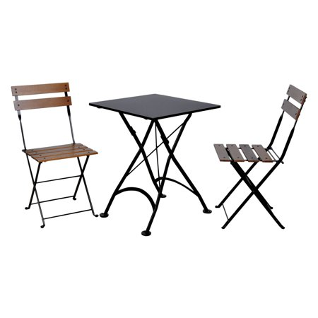 Admirable Furniture Designhouse French Cafe Bistro Chestnut Wood 3 Piece Square Folding Patio Bistro Set Best Image Libraries Weasiibadanjobscom
