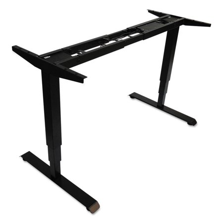 "Image of 3-Stage Electric Adjustable Table Base W/memory Controls, 25"" To 50 3/4""h, Black"